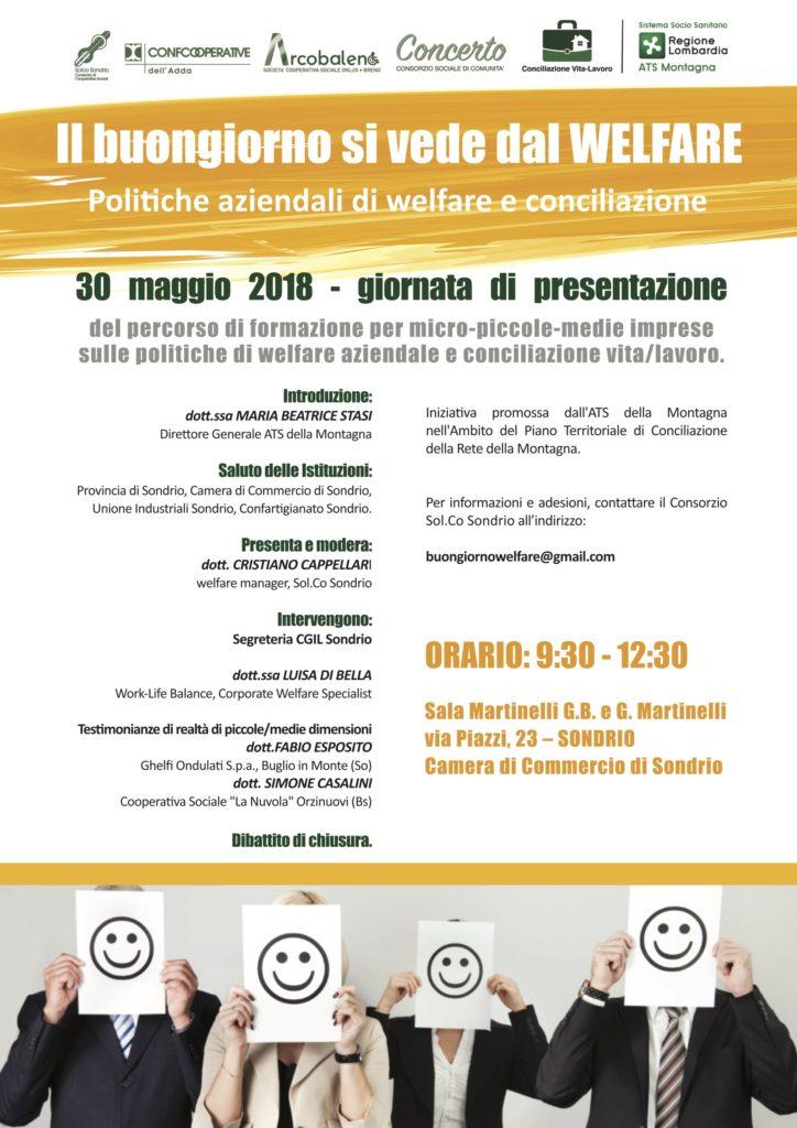 Locandina cultura del Welfare per PMI a Sondrio